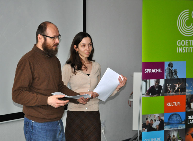 Петэр Мілчак і перакладчыца Святлана Богуш